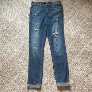 Hollister high rise skinny jeans. Size 9 long